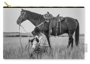 Cowboy, His Horse And Dog Carry-all Pouch