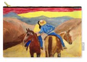 Cowboy Kisses Cowgirl Carry-all Pouch