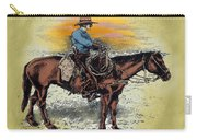 Cowboy N Sunset Carry-all Pouch