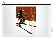 Colorado Cowboy Skier Carry-all Pouch by Sam Brennan