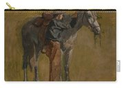 Cowboy - Study For Cowboys In The Badlands Carry-all Pouch