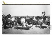 Cowboys Branding Cattle C. 1900 Carry-all Pouch
