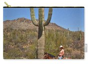 Cowgirl And The Crested Saguaro Carry-all Pouch