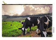 Cows At Sunset Bordered Carry-all Pouch