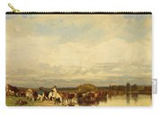 Cows Crossing A Ford 1836 Carry-all Pouch