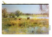 Cows In The Desert Carry-all Pouch