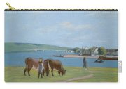 Cows On The Banks Of The Seine At Saint Mammes Carry-all Pouch