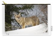 Coyote In Winter Carry-all Pouch