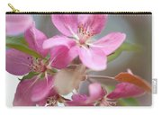 Crabapple Tree  Pink Flowers Carry-all Pouch