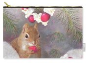 Cranberry Garlands Christmas Squirrel Carry-all Pouch