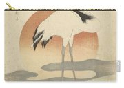 Crane For The First Sunrise Of The Year, Totoya Hokkei, C. 1821 Carry-all Pouch