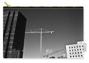 Cranes And Buildings Bw Carry-all Pouch