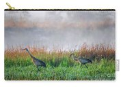 Cranes On Foggy Day Carry-all Pouch