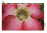 Craquelure Pink Flower Carry-all Pouch
