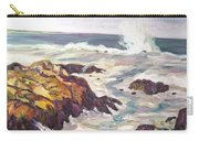 Crashing Wave On Maine Coast Carry-all Pouch