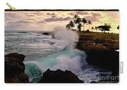Crashing Waves At Sunset Carry-all Pouch
