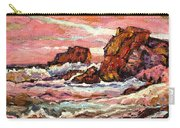 Crashing Waves At Sunset  Majestic Seascape Carry-all Pouch