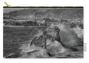 Crashing Waves Big Sur Ca Bw Carry-all Pouch