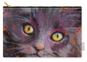 Crazy Cat Black Kitty Carry-all Pouch