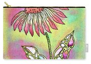 Crazy Flower With Funky Leaves Carry-all Pouch