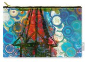 Crazy Red House In The Clouds Whimsy Carry-all Pouch