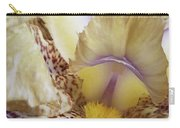 Cream And Purple Iris Carry-all Pouch