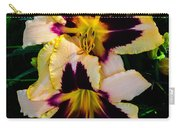 Cream And Purple Lilies Carry-all Pouch