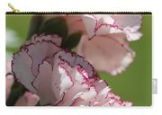 Creamy White With Red Picotee Carnation Carry-all Pouch