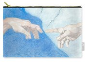 The Creation Hands Sistine Chapel Michelangelo Carry-all Pouch