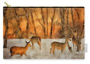 Creatures Of A Winter Sunset Carry-all Pouch