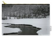 Creek In Snowy Landscape Carry-all Pouch