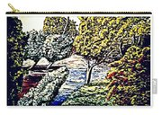 Creek In The Forest Framed Carry-all Pouch