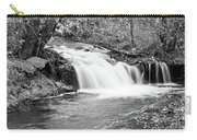 Creek Merge Waterfall In Black And White Carry-all Pouch