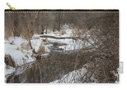Creek Winding Through The Snow Carry-all Pouch