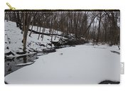 Creeks Battles The Snow And Cold To Remain Flowing. Carry-all Pouch