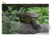 Creeping Komodo Monitor Climbing Under A Fallen Log Carry-all Pouch