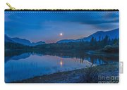 Crescent Moon Over Middle Lake In Bow Carry-all Pouch