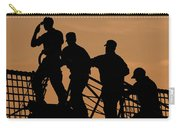 Crewmen Salute The American Flag Carry-all Pouch by Stocktrek Images