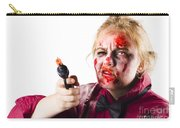Criminal Zombie Pointing Revolver Carry-all Pouch