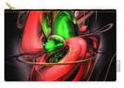 Crimson Affection Abstract Carry-all Pouch