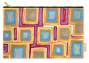 Crimson Gold And Squares  Carry-all Pouch