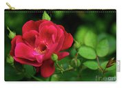 Crimson Red Rose By Kaye Menner Carry-all Pouch