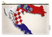 Croatia Map Art With Flag Design Carry-all Pouch
