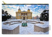 Croatian National Theater In Zagreb Winter View Carry-all Pouch