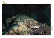 Crocodile Fish On Coral Carry-all Pouch