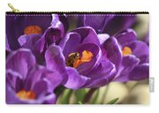 Crocus And Bee Carry-all Pouch