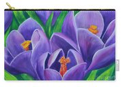 Crocus Flowers Carry-all Pouch