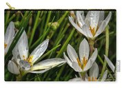 Crocus White Flowers Carry-all Pouch