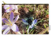 Crocuses And Fly Carry-all Pouch