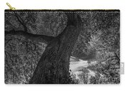 Crooked Oak Black And White Carry-all Pouch